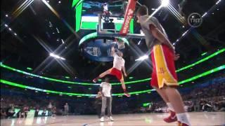 Chase Budinger dunk par dessus Diddy (2012 NBA Dunk Contest)