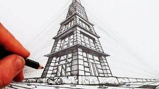 getlinkyoutube.com-How to Draw in 3-Point Perspective: Narrated