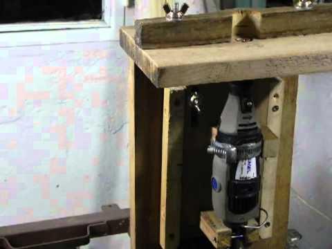 Dremel mesa para fresar hecha en casa (router)