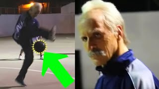 getlinkyoutube.com-Football Freestyler Sean Garnier dresses up as a Grandpa to play in a pick-up game
