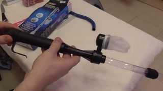 getlinkyoutube.com-Сифон для аквариума на батарейках, сачок для рыбы и аэратор из Китая. Обзор.