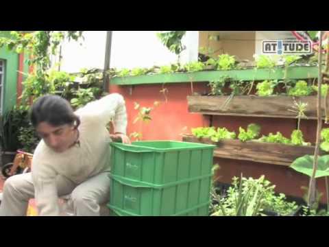 Como fazer uma composteira domestica para reciclar o proprio lixo