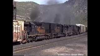 getlinkyoutube.com-Run 8! Roaring EMDs On Tennessee Pass, Colorado - 1992