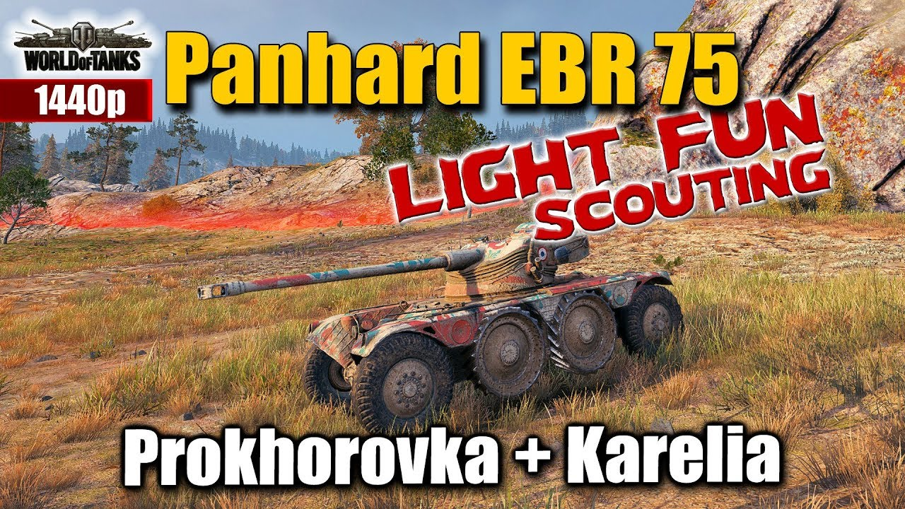 WOT  Panhard EBR 75  best World of Tanks recordings