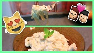 وصفات لشخصين: فوتتشيني ألفريدو بالدجاج يمي! Fettuccine Alfredo