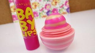 getlinkyoutube.com-EOS Lipbalm DIY | EOS mit Babylips färben | Lippenpflege mit pinken Streifen | Coconut Milk
