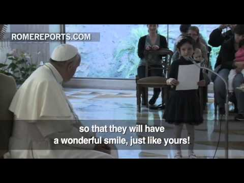 Pope Francis meets with sick children and their families