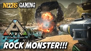 Ark: Survival Evolved - Rock Monster Massacre!!!