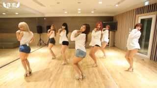 AOA - Confused - mirrored dance practice video - Ace of Angels 에이오에이 흔들려
