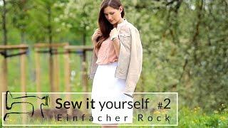 getlinkyoutube.com-Sew it yourself #2: Let's rock! Einfacher Rock mit Gummizug