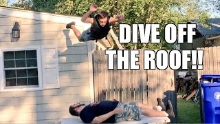 INSANE DIVE OFF ROOF! BIRTHDAY PARTY TABLE MATCH Backyard Pro-Wrestling Action