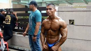 getlinkyoutube.com-Muscle Malaya 2014: Backstage Scene (Bodybuilding Category)