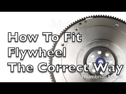 How to fit a nissan navara flywheel to engine