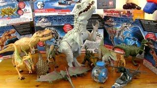 getlinkyoutube.com-New Massive Collection - Jurassic World Dinosaur Toys - Full Set 2015