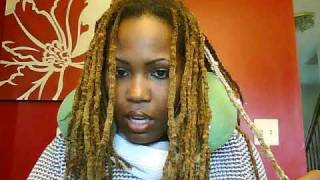 getlinkyoutube.com-Unlocking my locks some more!  I'm taking out my dreadlocks, check me out!