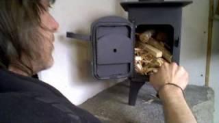 getlinkyoutube.com-Wood stove installation in a camper van