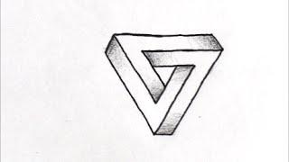 getlinkyoutube.com-[だれでも描ける!線画アート] 面白いだまし絵の描き方(三角形編) How to draw