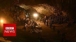 Thailand cave rescue: Children found 'by smell' - BBC News width=