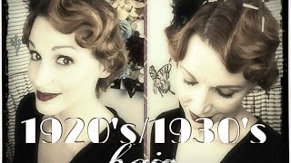 getlinkyoutube.com-Faux Finger Waving- 1920's/1930's Hair Tutorial