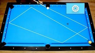 4 Rails Kick Shots Drill 1 - Bida tập thể dục - Pool & Billiard training lesson