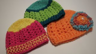 getlinkyoutube.com-كروشيه قبعه  Crochet Hat 0-3