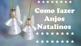 getlinkyoutube.com-COMO FAZER ANJOS NATALINOS DE PAPEL 2015