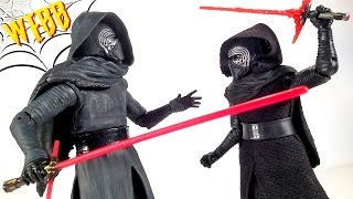 getlinkyoutube.com-Star Wars KYLO REN Elite vs Black Series Action Figure Comparison