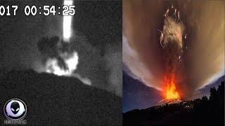 STRANGE UFO Activity Over Mt. Etna Volcano 3/19/17