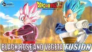 getlinkyoutube.com-FUSION Black Goku Rose and Vegeta Blue VS Future and Past Zamasu Fusion - Dragon Ball Super XV