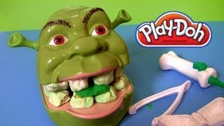 getlinkyoutube.com-Play Doh Shrek 2 Rotten Root Canal Playset Dentist Dr Drill N Fill Play Dough Comparison toys Review