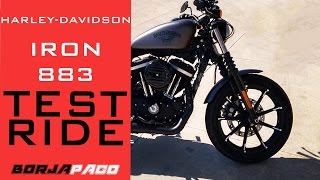getlinkyoutube.com-Harley Davidson Iron 883 (2016) : Il test ride di Borjapaco