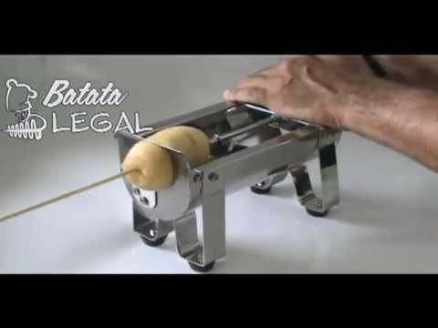Batata Espiral - maquina de cortar batata em espiral Batata Legal