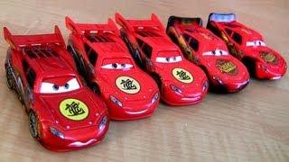 getlinkyoutube.com-5 McQueen Cars Toon Dragon Lightning McQueen Oil Stains Metallic finish Disney Pixar Tokyo Mater
