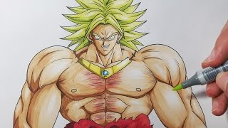getlinkyoutube.com-How To Draw Broly The Legendary Super Saiyan - Step by Step Tutorial!