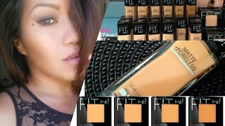 getlinkyoutube.com-Maybelline FIT ME Matte + Poreless Foundation & Powder | 330 Toffee Caramel