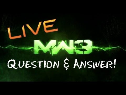 MW3 Livestream -- IWM Question & Answer for 8 K Subs!