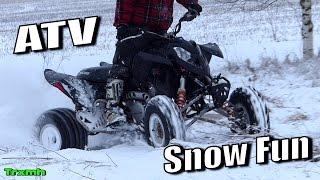 getlinkyoutube.com-ATV Quad Winter Snow Fun