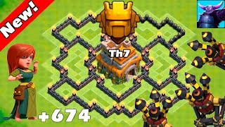 getlinkyoutube.com-Clash Of Clans - New Update - TH7 Farming base 3 air defense ANTI EVERYTHING! - TH7 Trophy Base 2016