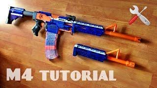 getlinkyoutube.com-[TUTORIAL] How to make a NERF M4 Rifle | PART 1 - barrel attachment