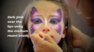 Easy Butterfly FACE PAINTING - MAQUILLAGE POUR ENFANTS