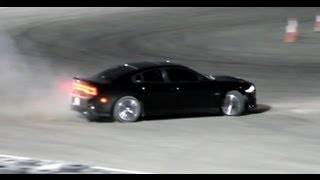 getlinkyoutube.com-Charger SRT8 drifts and donuts