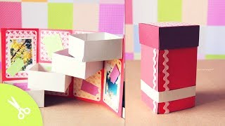 getlinkyoutube.com-Caja con cajones: Guarda regalo - Dia de los enamorados // Origami box Tower