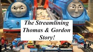 getlinkyoutube.com-Thomas and Friends Great Race Trackmaster Streamlining Thomas and Gordon Story!