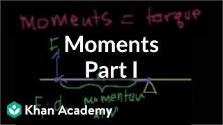 Moments | Moments, torque, and angular momentum | Physics | Khan Academy