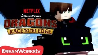 getlinkyoutube.com-Dragons: Race to the Edge season 2 | MINECRAFT TRAILER