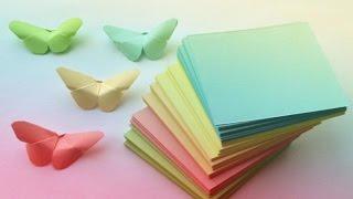 getlinkyoutube.com-БАБОЧКИ из БУМАГИ / DIY Butterfly Room Decor / ОРИГАМИ БАБОЧКА