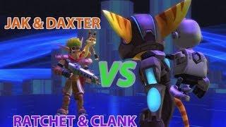 getlinkyoutube.com-Ratchet VS Jak - PlayStation All Stars Battle Royale