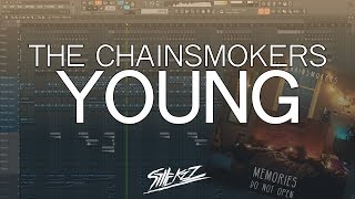 YOUNG - THE CHAINSMOKERS karaoke version ( no vocal ) lyric instrumental