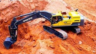RC DIGGER VOLVO EC 480 D @ HERSCHWEILER CONSTRUCTION SITE