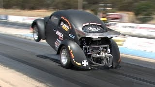 getlinkyoutube.com-Turbo 4 6s @ Heathcote drags - Dec 26th